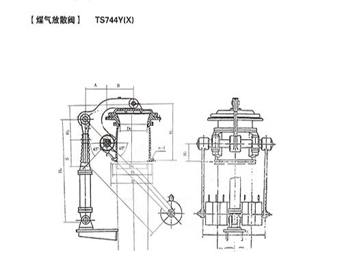 煤气放散阀-TS744Y(X)